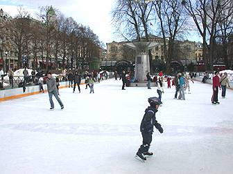 outdoor ice rink portrait