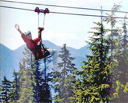 Lynn Rosen Ziplines On Grouse Mountain