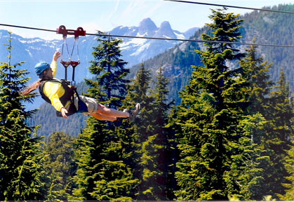 Steve Giordano Ziplines On Grouse Mountain