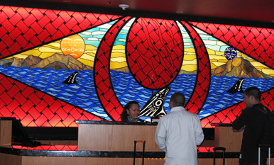 Tulalip stained glass
