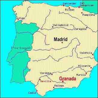 Map Of Spain Granada.Granada Details