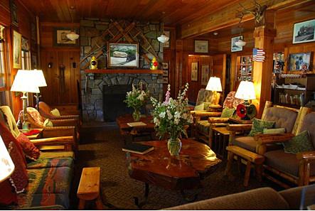 Cozy Lobby Of The Izaak Walton Inn