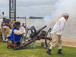 Louisiana canon firing