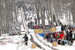 Toboggan races finish line in Camden, MA