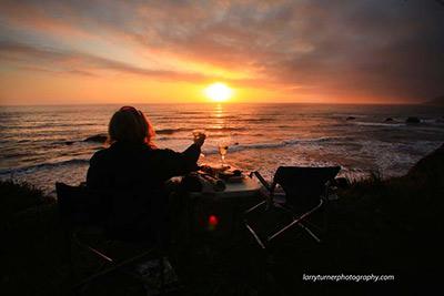 Ca Starry Camp Night Westport Sunset